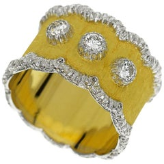 Gianmaria Buccellati 0.39 Carat Diamond 18 Karat Yellow and White Gold Ring