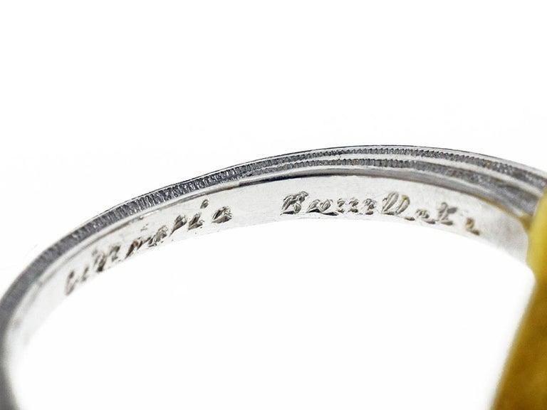 Women's Gianmaria Buccellati 18 Karat Yellow Gold Heart Design Diamonds Ring For Sale