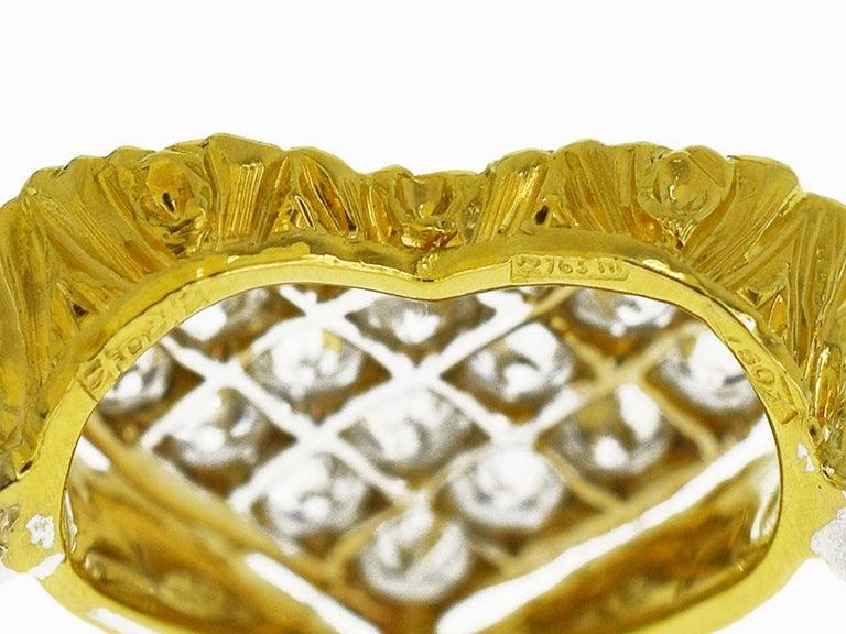Gianmaria Buccellati 18 Karat Yellow Gold Heart Design Diamonds Ring For Sale 2