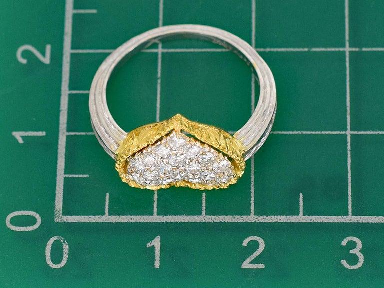 Gianmaria Buccellati 18 Karat Yellow Gold Heart Design Diamonds Ring For Sale 4