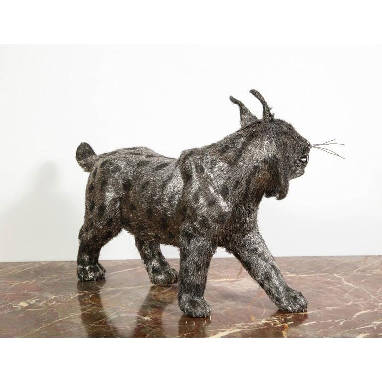 Gianmaria Buccellati, a Rare and Exceptional Italian Silver Bobcat For Sale 9