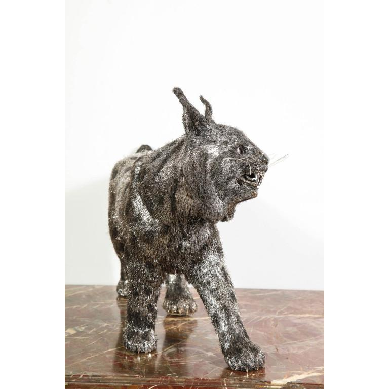 Gianmaria Buccellati, a Rare and Exceptional Italian Silver Bobcat For Sale 10