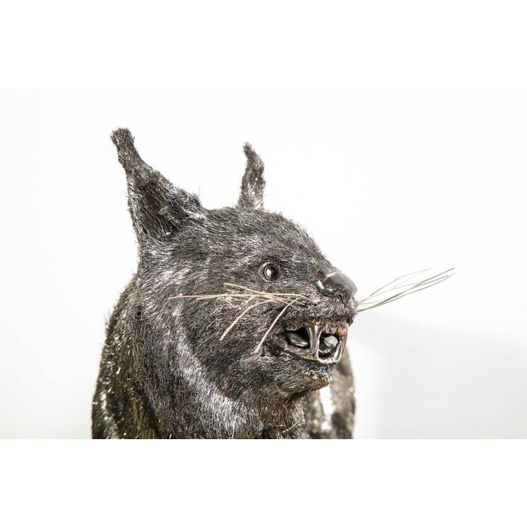 Gianmaria Buccellati, a Rare and Exceptional Italian Silver Bobcat For Sale 11