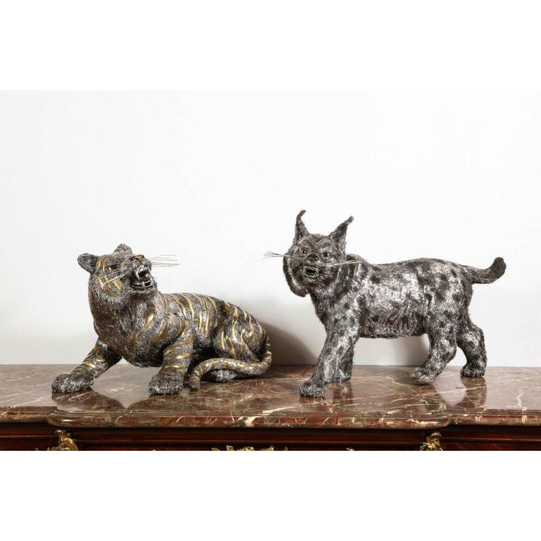 Gianmaria Buccellati, a Rare and Exceptional Italian Silver Bobcat For Sale 15