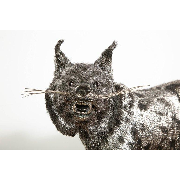 Gianmaria Buccellati, a Rare and Exceptional Italian Silver Bobcat For Sale 1