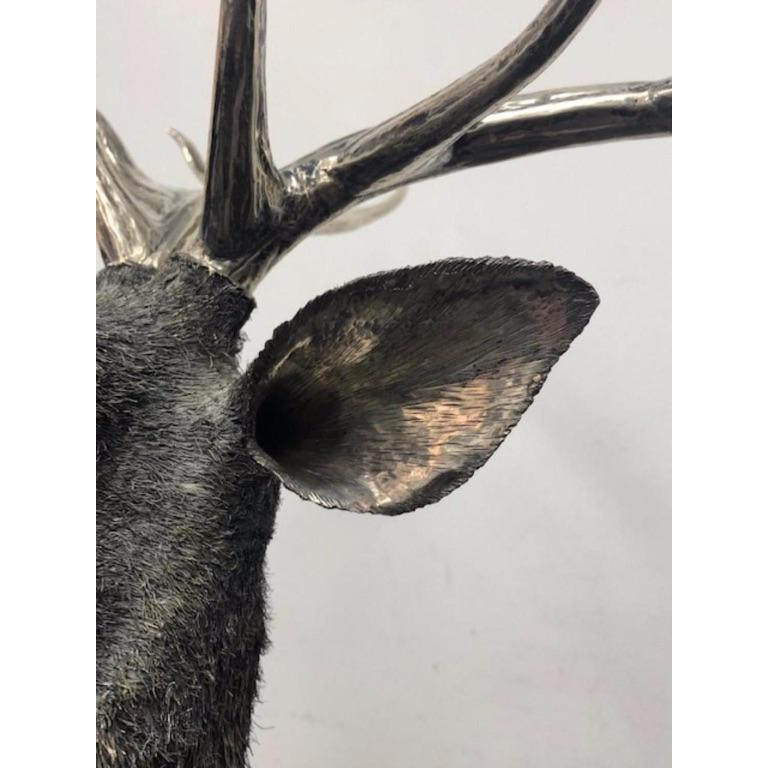 Gianmaria Buccellati, a Rare and Exceptional Italian Silver Deer Stag For Sale 6