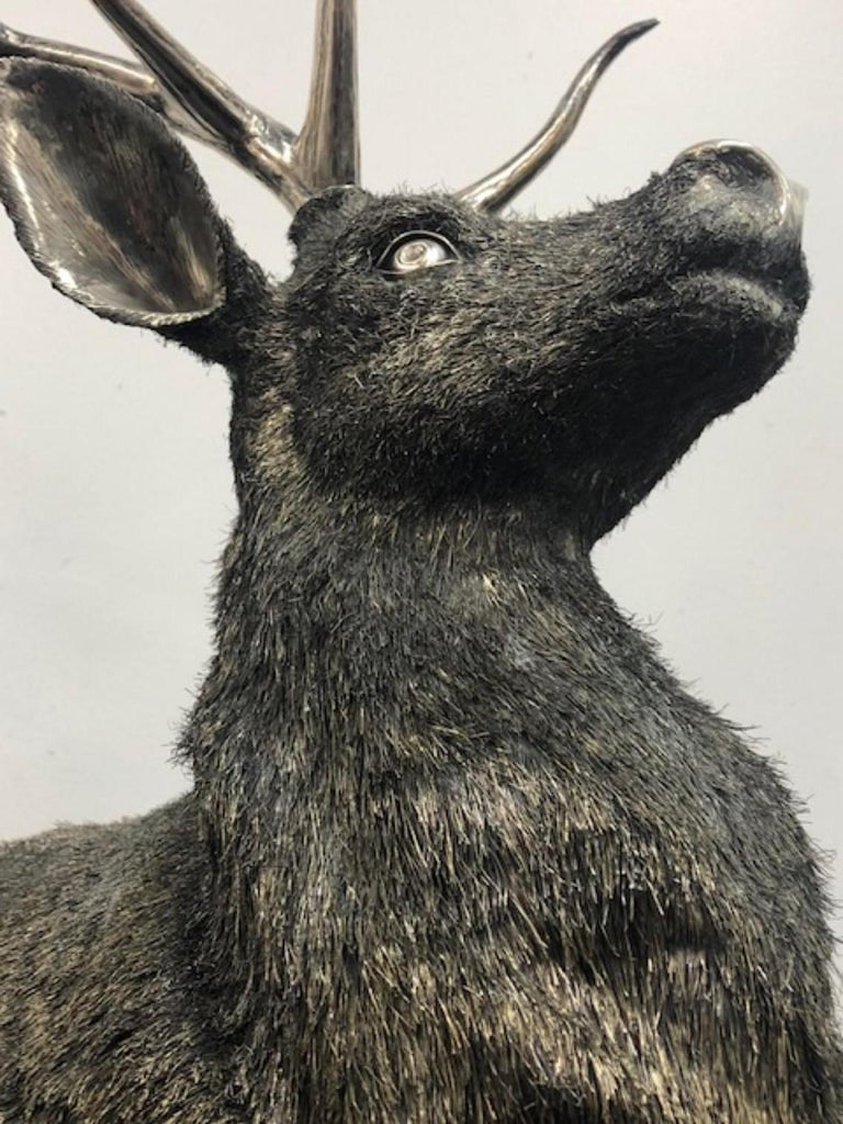 Gianmaria Buccellati, a Rare and Exceptional Italian Silver Deer Stag For Sale 7