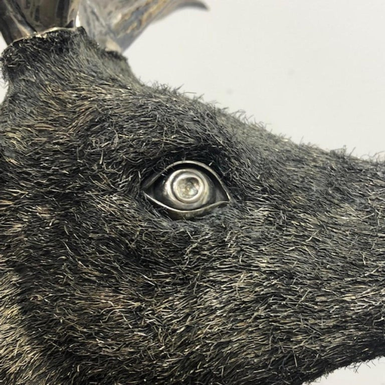 Gianmaria Buccellati, a Rare and Exceptional Italian Silver Deer Stag For Sale 9