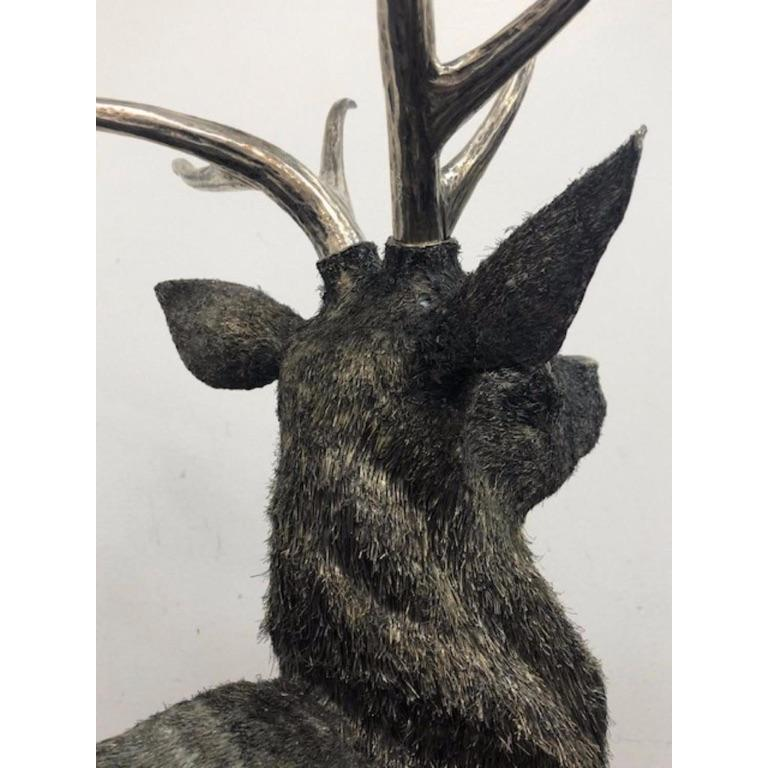 Gianmaria Buccellati, a Rare and Exceptional Italian Silver Deer Stag For Sale 13