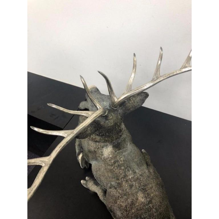 Gianmaria Buccellati, a Rare and Exceptional Italian Silver Deer Stag For Sale 15