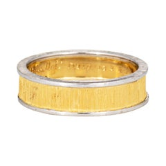 Gianmaria Buccellati Band Vintage 18k Yellow Gold Ring Signed Jewelry