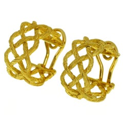 Gianmaria Buccellati Crepe De Chine Design Hoop Earrings