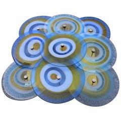 Gianmaria Potenza for la Murrina Wall Sconce Italian Design Murano Glass Blue