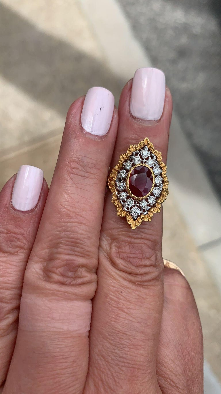 Gianmarie Buccellati Diamond, Ruby Ring In Good Condition For Sale In New York, NY