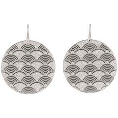 Gianni Bulgari Enigma Diamond White Gold Drop Earrings