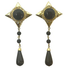 Gianni De Liguoro 1980s pendant earrings from Elsa Martinelli's collection