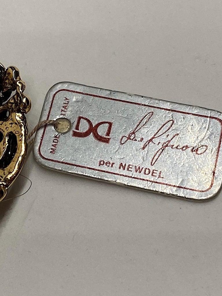 Gianni De Liguoro Crystal & Pearl bead and Rhinestone 1980s Dangle Earrings For Sale 5