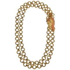 Gianni De Liguoro Horse Clasp Necklace