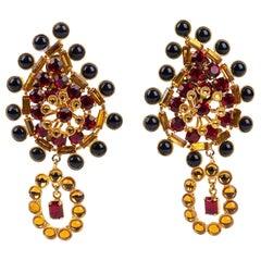 Gianni Di Liguoro Earrings 1980s Large Earrings