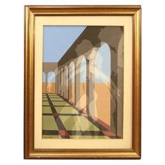 Gianni Frassati 20th Century Oil on Canvas Abstract Italian Painting, 1970