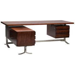 Gianni Moscatelli Executive Rosewood Angle Desk for Formanova