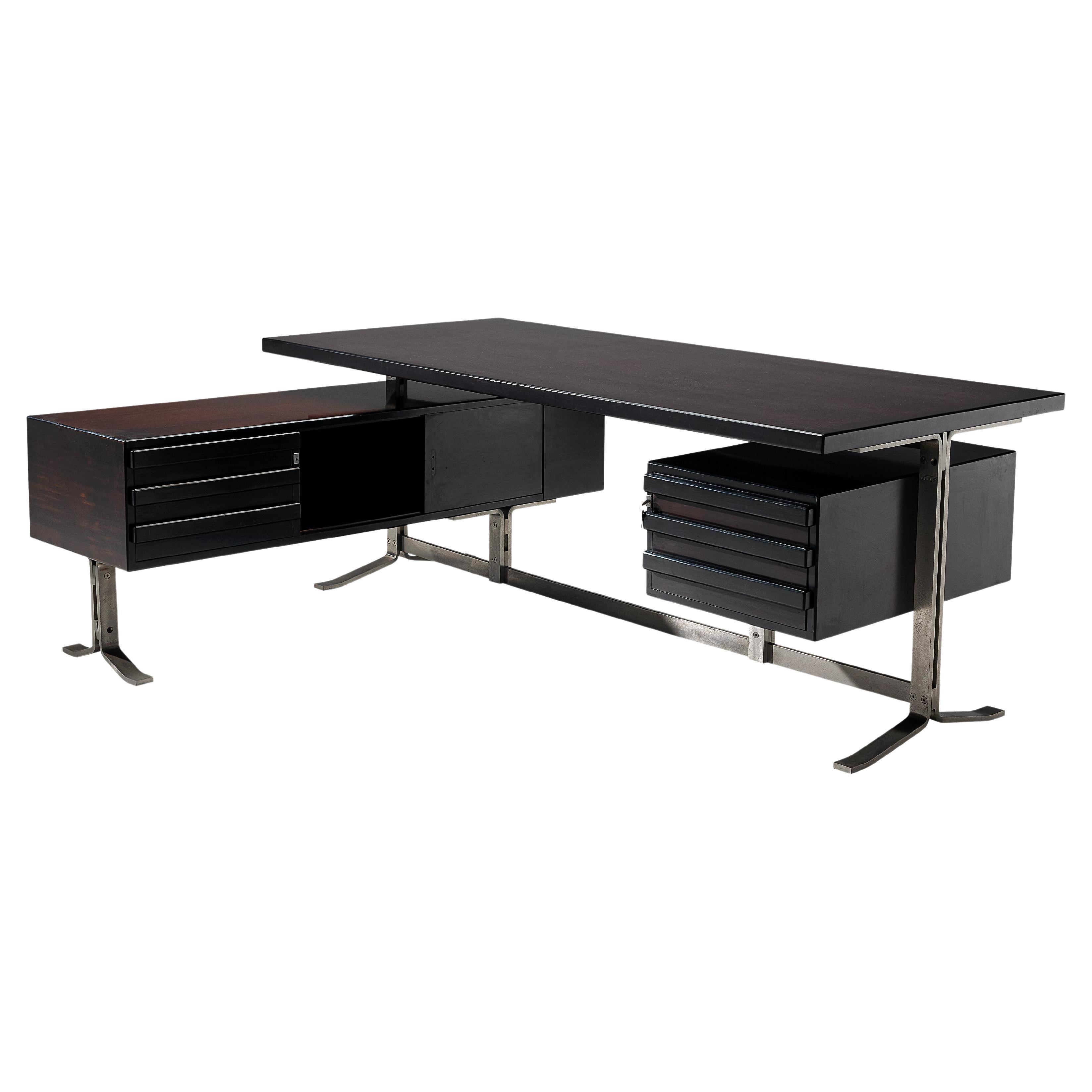 Gianni Moscatelli for Formanova Executive Desk in Stained Mahogany