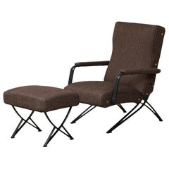 Gianni Moscatelli Reclining Chair with Ottoman