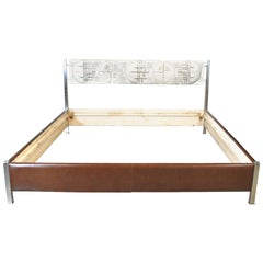 Gianni Pinna Sculptor Midcentury Bed in Bronze Casting