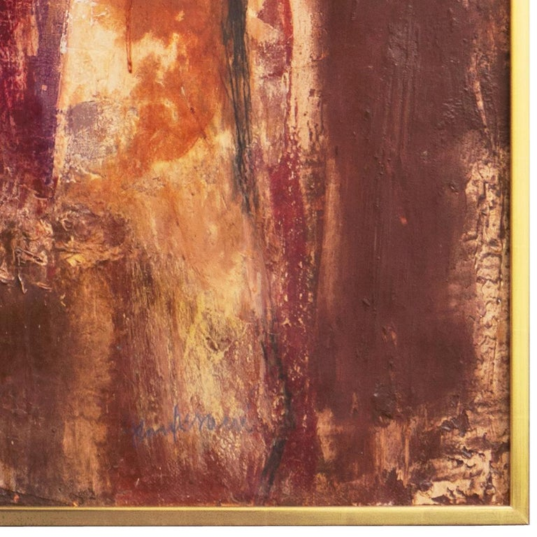 Fendi Shopping Bag Landscape  (Italian, Modernism, Mid-century, Red, Fashion) - Brown Landscape Painting by Gianni Pisani