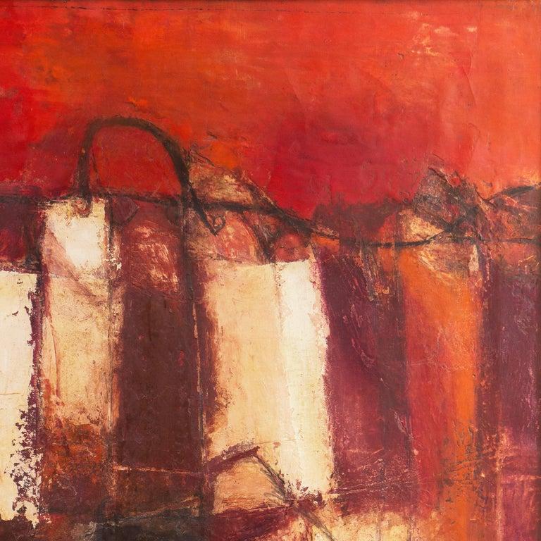 Fendi Shopping Bag Landscape  (Italian, Modernism, Mid-century, Red, Fashion) For Sale 1