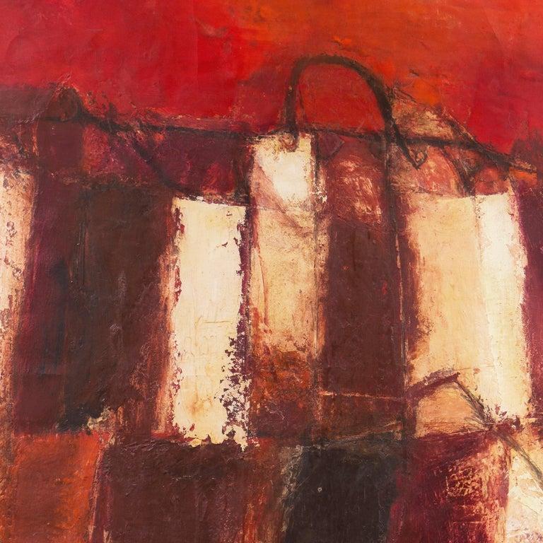 Fendi Shopping Bag Landscape  (Italian, Modernism, Mid-century, Red, Fashion) For Sale 4