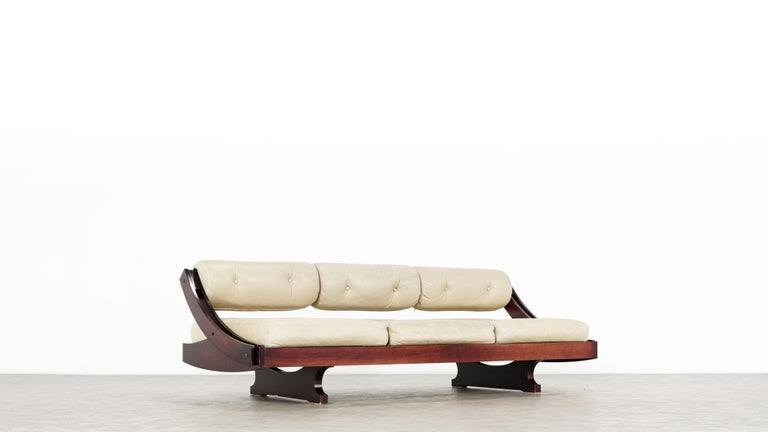 Leather Gianni Songia, Daybed GS 195 and Sofa, 1963 for Sormani, Handmade in Italy For Sale