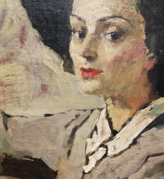 G. Vagnetti, Portrait of Nanda Vitolo, 1947, oil on canvas, signed and dated