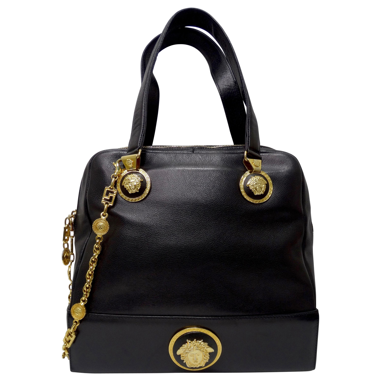 Gianni Versace 1980s Medusa Medallion Handbag