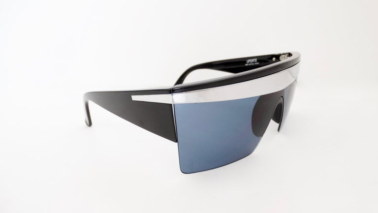 Gianni Versace 1980s Silver Update Sunglasses For Sale 5