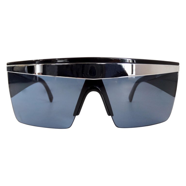Gianni Versace 1980s Silver Update Sunglasses For Sale