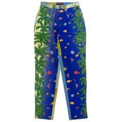 Gianni Versace Ocean Print Jeans