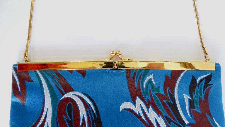 Women's or Men's Gianni Versace 1990s Baroque Print Satin Shoulder Bag For Sale