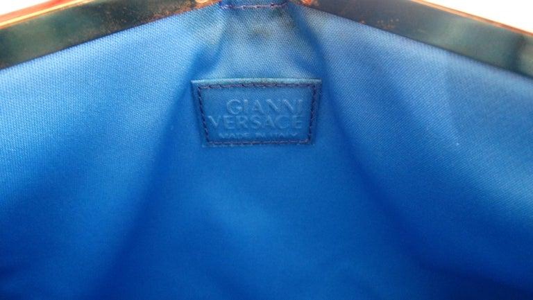 Gianni Versace 1990s Baroque Print Satin Shoulder Bag For Sale 1