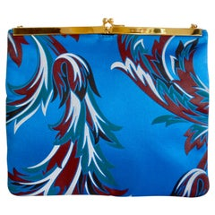 Gianni Versace 1990s Baroque Print Satin Shoulder Bag