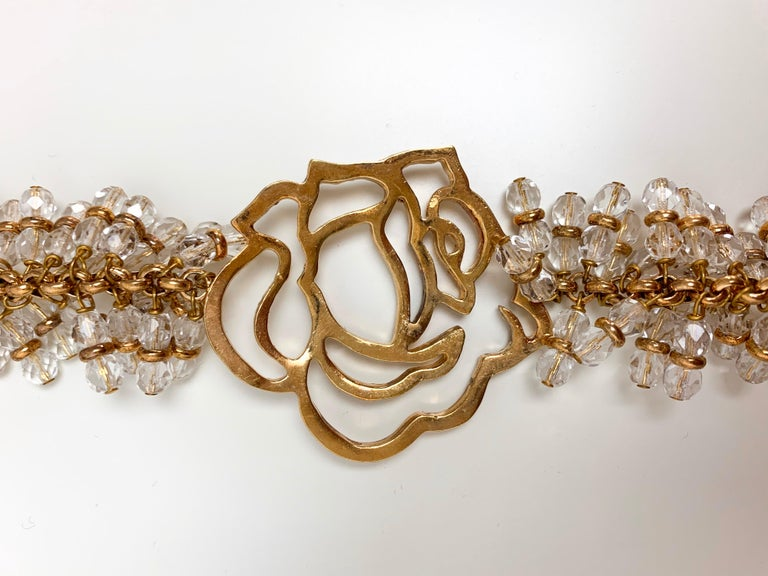 Gianni Versace 1990's flower beaded necklace For Sale 1