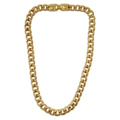Gianni Versace 1990's gold curb chain necklace
