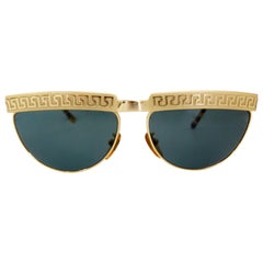 Gianni Versace 1990s Greek Key Sunglasses