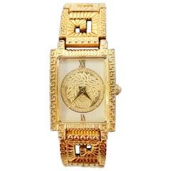 Gianni Versace 1990s Greek Key Wrist Watch