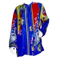 Gianni Versace 1990s Japanese Inspired Silk Shirt