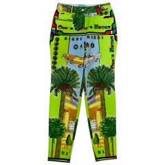 Gianni Versace 1990s Miami Print Jeans