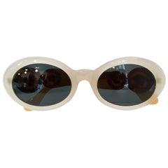 Gianni Versace 1990s Two-Tone Oval Sunglasses