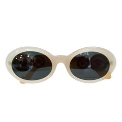 Gianni Versace 1990s Two-Tone Oval Sunglasses