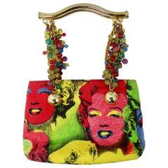 Gianni Versace 1991 Marilyn Monroe & James Dean Pop Art Bag