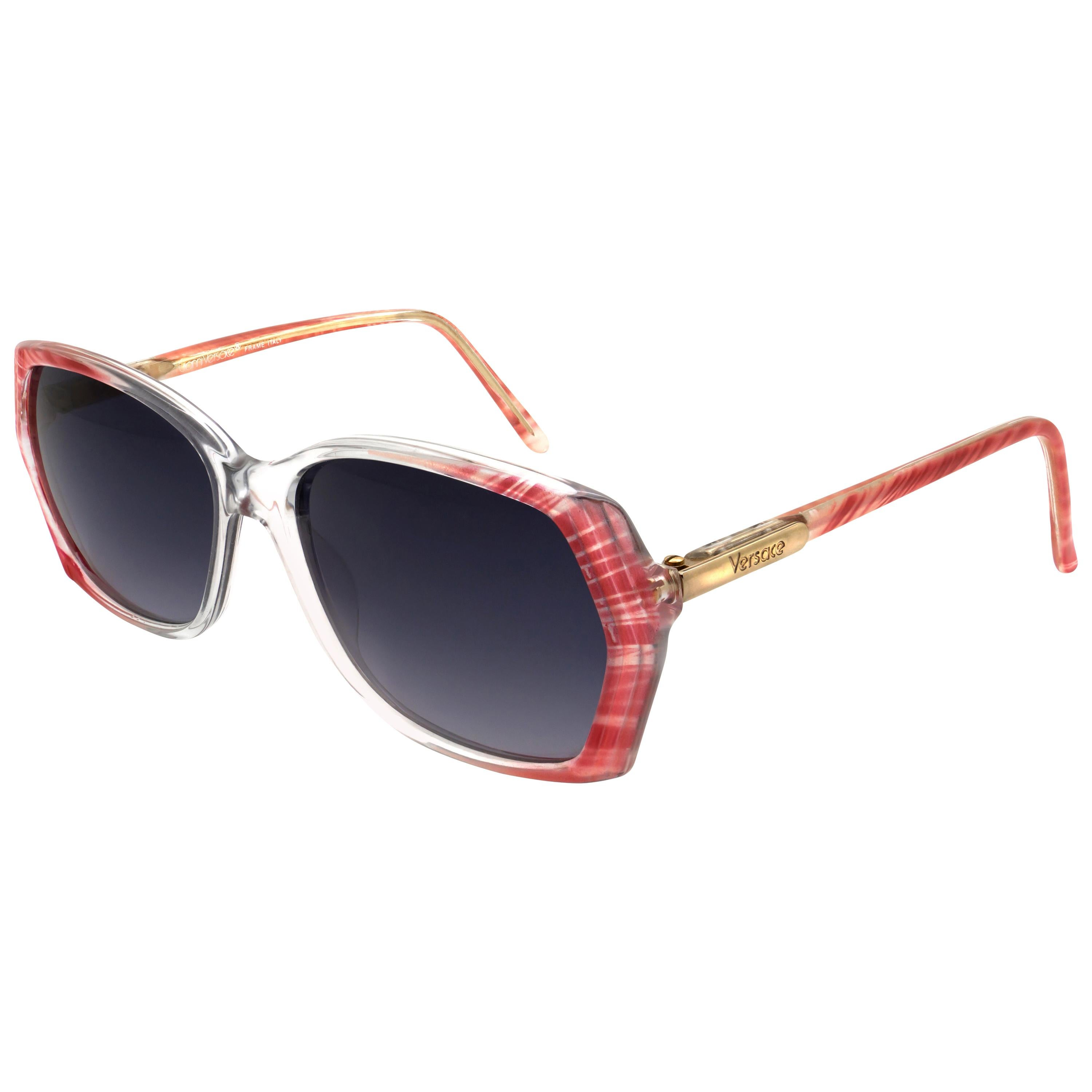 Gianni Versace 80s pink sunglasses for women